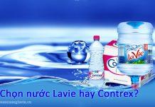 Chọn nước Lavie hay Contrex