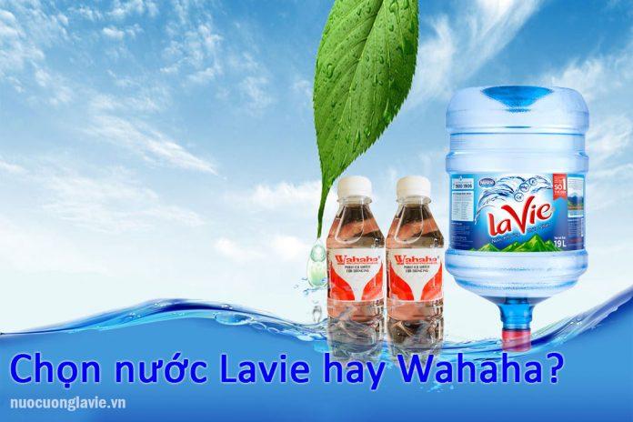 Chọn nước Lavie hay nước Wahaha