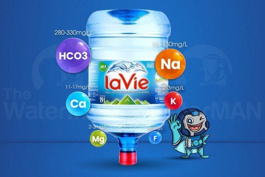 Nước khoáng Lavie chứa các khoáng chất tốt cho cơ thể